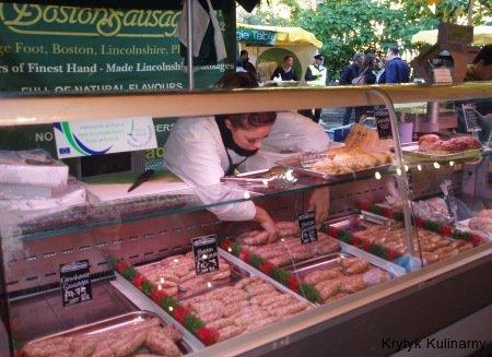 Borough market - kiełbaski