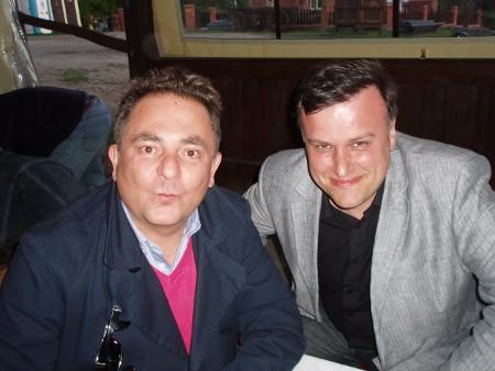 Robert Makłowicz i Artur Michna. Gruczno.