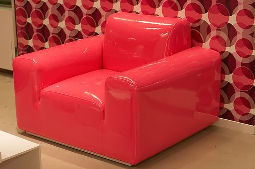 Fotel - różowy fotel