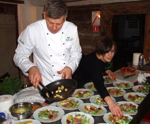 Klub kolacyjny w Chrystkowie - przygotowanie