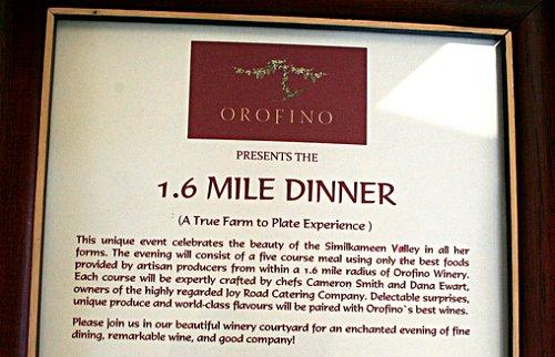 1.6 mile dinner