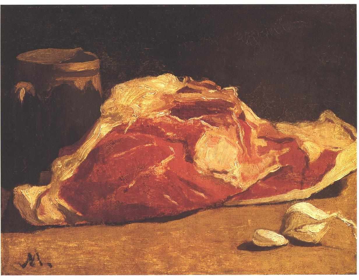 Claude Monet - Still life with meat
