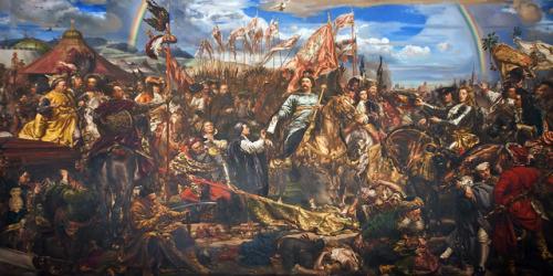 Jan III Sobieski wysyła wiadomość o zwycięstwie papieżowi Innocentemu XI – mal. Jan Matejko