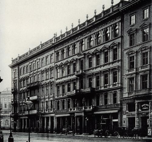 Hotel Sacher około 1890 roku