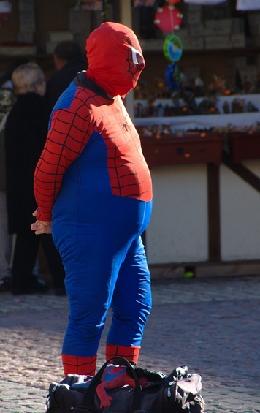 Spiderman z pszenicznym brzuchem. fot. Niccolò Caranti