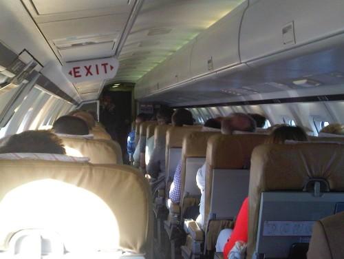 W drodze do Mediolanu, w samolocie