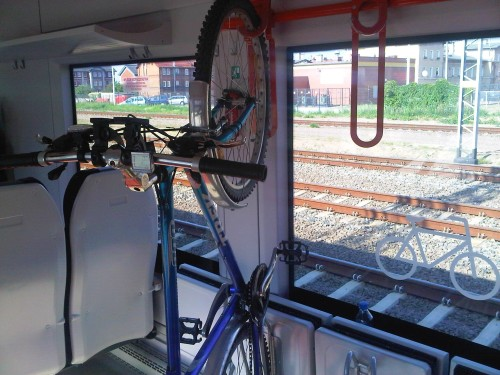 Miejsce na rowery w wagonie