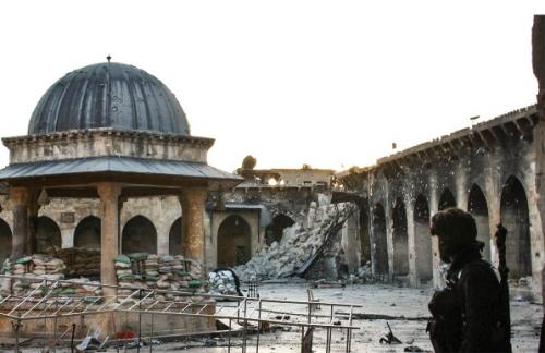 Meczet w Aleppo, Syria, fot. Gabriele Fangi, Wissam Wahbeh