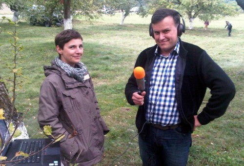 Dr Aleksandra Kleśta-Nawrocka na pikniku w Stuletnim Sadzie