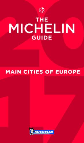 Michelin Main Cities of Europe 2017 okładka przewodnika