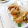 Restauracja Szafarnia 10 - Pierogi z grasicą cielęcą w cieście francuskim z sosem rakowym