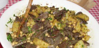 Gęganie, weganie i poganie - konfitowane gęsie wątróbki z ziemniakami i ciecierzycą