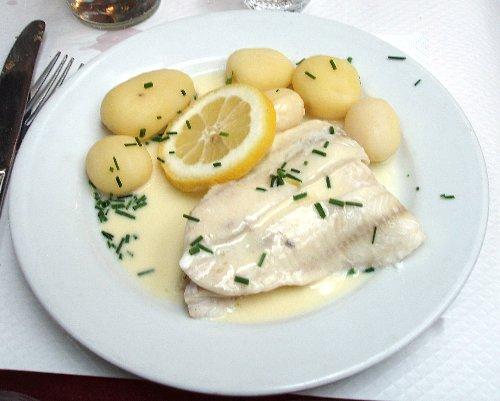 Podróż soczysta berlińsko-paryska - Le Bouillon Chartier - Filet de Merlan Sauce Citron