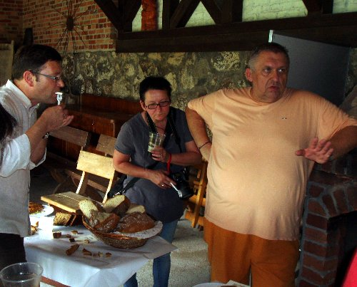 Festiwal Smaku w Grucznie 2013 - stół degustacyjny - jury konkursowe