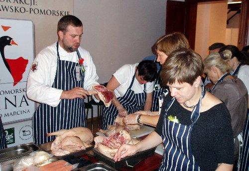 Artur Moroz przygotowuje dania z gęsi