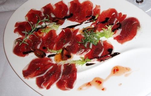 Klub kolacyjny w Chrystkowie - gęsie carpaccio