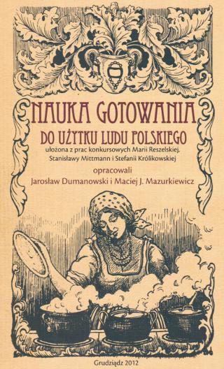 """Okładka książki """"Nauka gotowania do użytku ludu polskiego"""