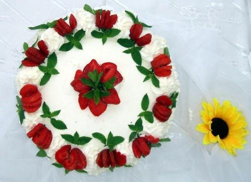 Tort z truskawkami - Stężyca