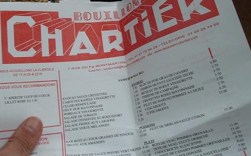 Tete de veau sauce gribiche w menu restauracji Bouillon Chartier