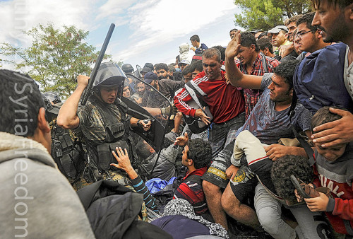 Imigranci w Macedonii, fot. Freedom House