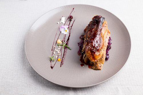 Restauracja Kubicki - Kaczka na kapuście czerwonej w sosie żurawinowym
