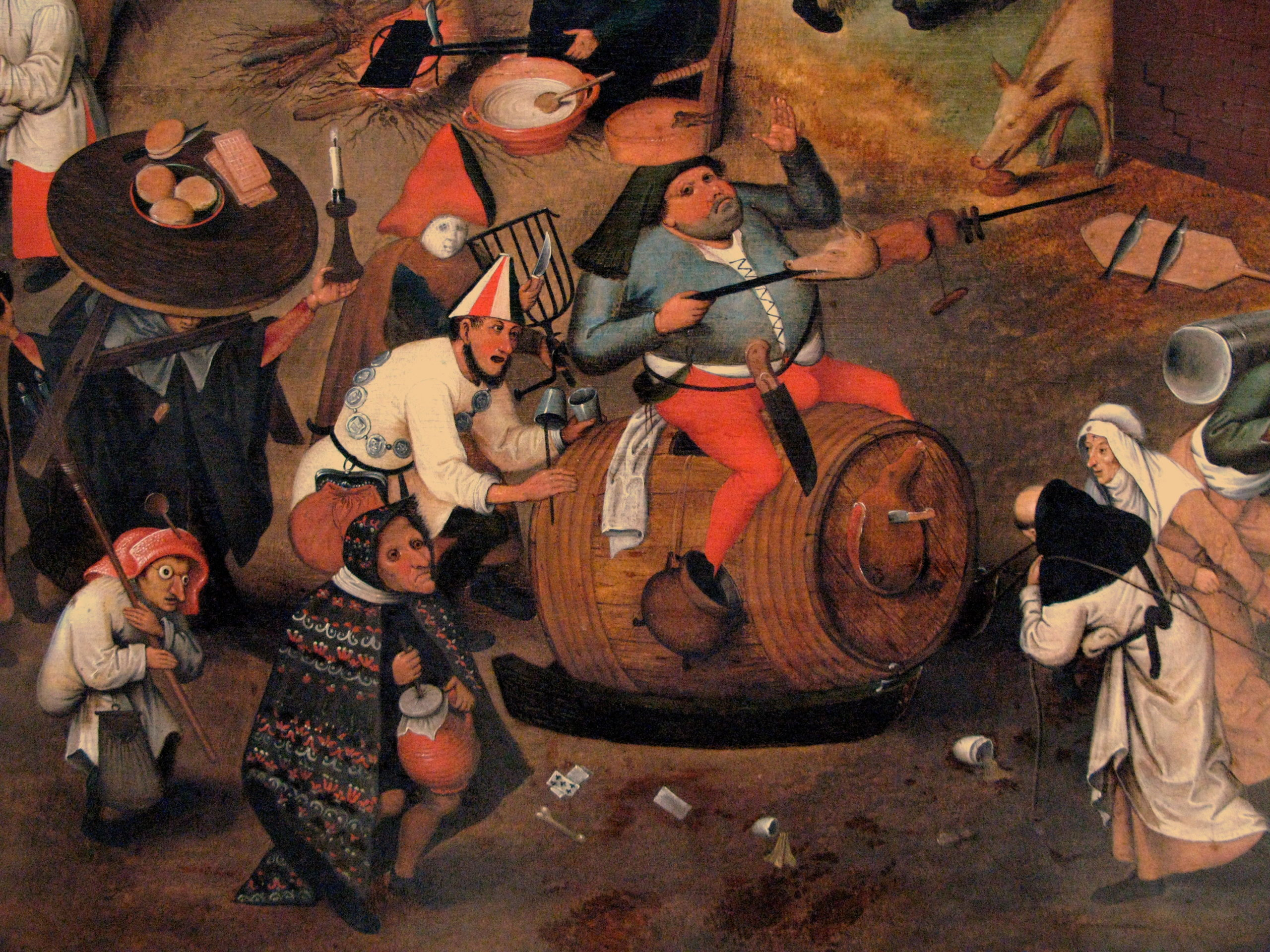 Walka karnawału z postem (Autorstwa Pieter Brueghel - Praca własna, Rama)